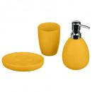 accessoires sale de bain x3 sun jaune, taupe