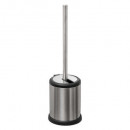 toilet brush with flapper silver, silver