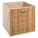cesta de almacenamiento de bambú natural l, marrón