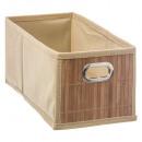 cesta de almacenamiento de bambú natural, marrón