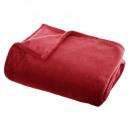 effen rode flanellen plaid 130x180, rood