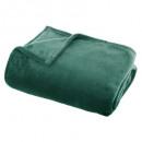 effen groene flanel plaid 130x180, groen