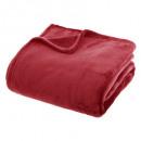 plaid liso rojo liso 180x230, rojo