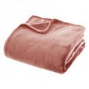 llanura de franela plana a cuadros 180x230, rosa m