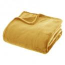 ingrosso Accessori e ricambi: plaid plain flanel ocra 180x230, giallo