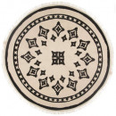 nomadic round rug d90, multicolored