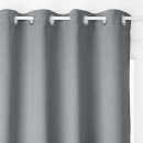 cortina opaca imprime gf 135x240 x2, gris oscuro
