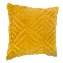 grossiste Coussins & Couvertures: coussin four grafik ocre 45x45, jaune