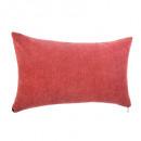 Pillow red zipper 30x50, red