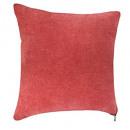 coussin zipper rouge 40x40, rouge