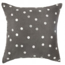 Pillow polka dots gold silv 40x40, 2- times assort
