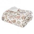 dessus lit fleur blanche 220x240, blanc