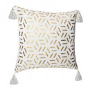 wholesale Cushions & Blankets: cushion cover geom gold bl 40x40, white