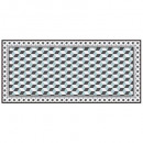 tapis vinyle mosaiq box 50x109, 7-fois assorti, co