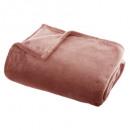 plaid flanel uni blush 125x150, rose moyen