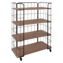metal shelf 4 floors jordi, brown