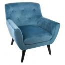 velvet chair eole blue f, blue