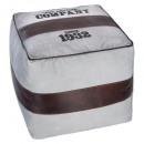 retro pouf, white