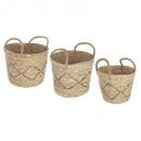 basket seagr plate x3 nomad, beige