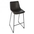 bar stool black pu laws, black