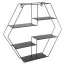 wall shelf hexago, black