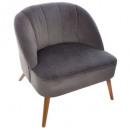 fauteuil naova gris, gris