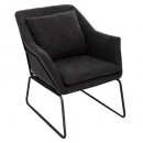 dark gray chet armchair, dark gray