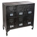metal furniture 6 doors sevin, black