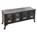 metal furniture 4 doors sevin, black