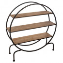 round shelf on foot yara, brown