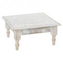 etnik cafe table, white