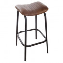 chic leather bar stool, brown