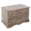 shirel wood chest, brown
