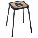 wood stool metal