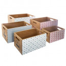 Vintage crate crate x5, multicolored