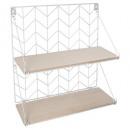 wall shelf white, white