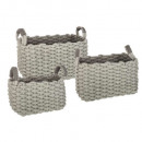 times assorted knit basket x3, 2- times assorted ,
