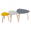 table cafe mileo break x3, couleurs assorties