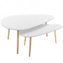 table cafe mileo gm blanc x2, blanc