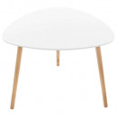 white mileo coffee table, white