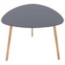 table cafe mileo gris f, gris foncé
