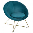 velvet duck p gold evan armchair, blue