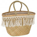 shopping basket wicker summer, beige