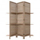 wholesale furniture: screen 3 shelves wood, colorless