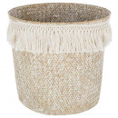 cesta seagr plato franja verano, blanco