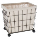 panier a linge metal collect, beige