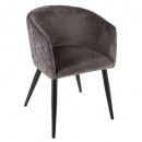 velvet dining chair gr f marlo, gray
