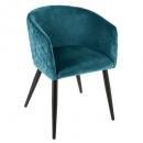 velvet dining chair duck marlo, blue