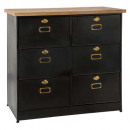 6 shot gold ivan chest of drawers, black