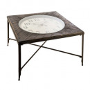 coffee table because chronograph clock, gray